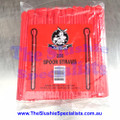 Red Spoon Straw Pack of 250