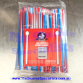 Twisted Red/White/Blue Spoon Straw Pack of 250