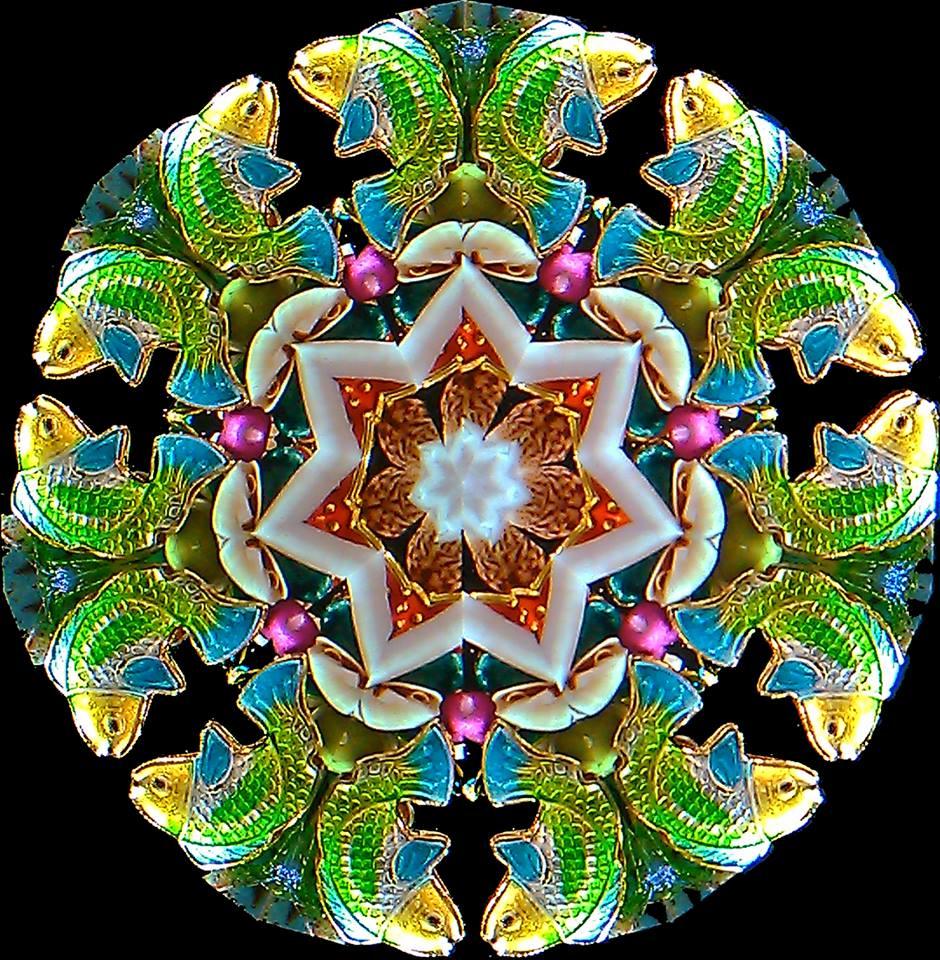 two-mirror, 7-point mandala