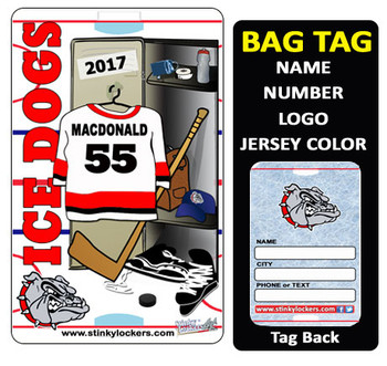 Customize with your name, number, team name, logo and team colors.