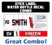 Combine two great products and get the Big League Stick Label and the custom water bottle decal!