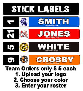 Customize your stick with you name, number, team logo and team color! Only $ 6.99 or team orders from $ 5 each!