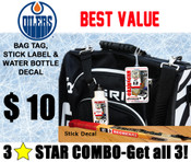 Keep an eye on your gear and increase your rate of return with our 3 Star Camp Combo. You will get a personalized water bottle decal, stick label and bag tag for only $ 10.