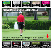 Increase your rate of return with cusotm golf club labels by Stinky Lockers. Set of 14 for only $ 19.99. 10 Styles to Choose from!