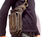 Leather Holster Shoulder Bag in Brown