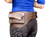 Festival Utility Belt - Ring Design in Brown