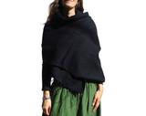 Womens Shawl Scarf in Black