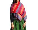 Womens Shawl Scarf with Pastel Stripes