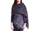 Women's Shawl Wrap in Blue