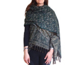 Women's Shawl Wrap in Green