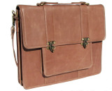 Leather Attache Bag BC Pro XV - Tan