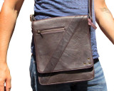 Compact Messenger Bag i19 Brown Leather