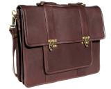 Leather Attache Bag BC Pro XV - Dark Brown