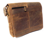 Leather Satchel Shoulder Bag for Men - Sherpa XV - Natural Brown