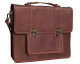 Leather Attache Bag BC Pro XV - Mahogany