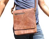 Compact Messenger Bag i18 Antique Brown Leather