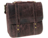 Leather Messenger Bag - Artisan Pro 2 - Burgundy