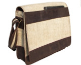 Leather and Hemp Bag Satchel for Men