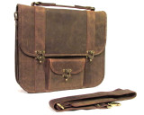 Hunter Leather Messenger Bag Nomad X - Brown