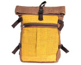 Organic Hemp Rucksack Backpack - Tuareg X - Brown & Yellow