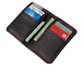 Mens Leather Card Wallet Retro Brown