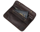 Leather Passport Holder Travel Wallet/Purse Rugged Brown