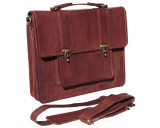 Leather Attache Bag BC Pro X - Antique Mahogany