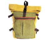 Organic Hemp Rucksack Backpack - Tuareg X - Yellow & Green