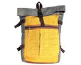 Organic Hemp Rucksack Backpack - Tuareg X - Yellow & Blue