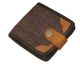 Brown Organic Hemp Wallet With Natural Leather Trim Ecofriendly Fabric