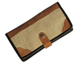 Big Organic Hemp Wallet With Natural Leather Trim