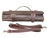Leather Knife Roll Chefs Bag Hunter Leather - Bedouin X - Chocolate Brown