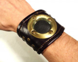 Brass and Leather Steampunk Wristband