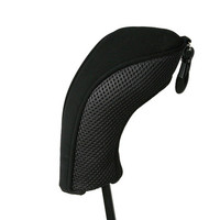 black neoprene and mesh hybrid utility wood,iron, head cover, headcover