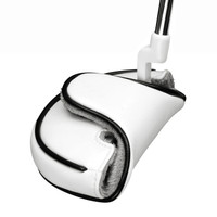 white mallet head cover, synthetic leather, headcover