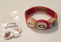 WristSkins Golf Ball Marker Bracelet, Boston College Eagles, College Team,Small, Medium, Large