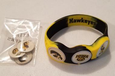 IOWA Hawkeyes wristskin golf ball marker bracelet