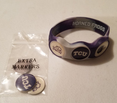 TCU Horned Frogs wristskins golf ball marker bracelet