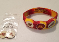 Minnesota Golden Gophers Wristskins golf ball marker bracelet