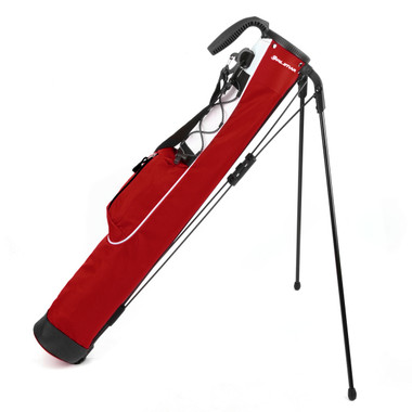 orlimar pitch and putt lightweight stand bag, brick red
