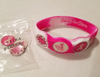 wristskins wrist skins, swing to cure, breast cancer awareness