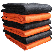 "72"" X 80"", Heavy Weight-2 Color Moving Blanket, 6-Pack"