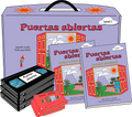 Puertas Abiertas Spanish curriculum for kids with VHS videos, audio cassettes, workbook, and guide