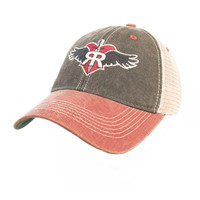 Ruff Riders' Vintage Style Trucker hat- Red/blue with mesh back