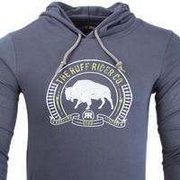 Ruff Riders Roaming BUFFALO: Pullover hoodie with drawstrings and front pockets