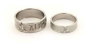 Celtic Triscle Titanium Wedding Rings