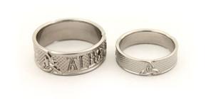 Celtic Triscle Titanium Wedding Rings