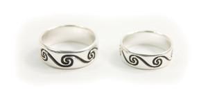 Pair of Sterling Silver Celtic Spiral Rings (CJ212)