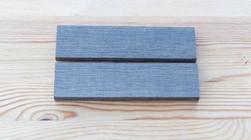 Bog Oak Handle Blank 'Book Ends' - 150x39x9mm