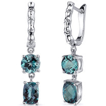 French Clip 4.50 Carats Alexandrite Cut Earrings in Sterling Silver Style SE8158